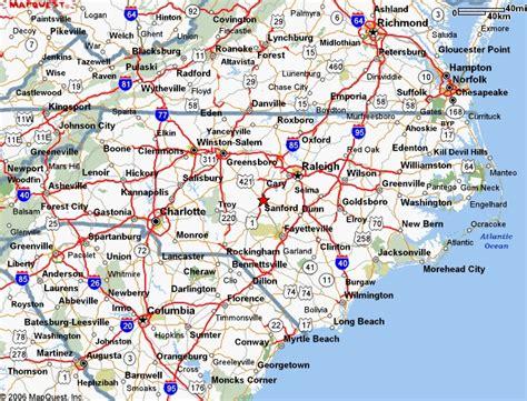 map of cities in carolina carolina map of cities and towns carolina
