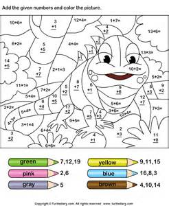 math color by number addition 187 addition worksheets picture free math