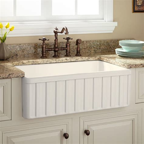 Farm Sink Kitchen | fireclay farmhouse kitchen sinks signature hardware