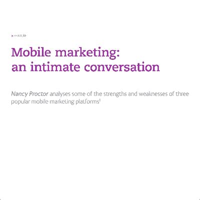 mobile marketing platforms strengths and weaknesses of mobile marketing platforms