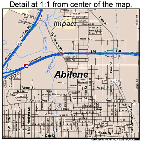 texas map abilene abilene texas map 4801000