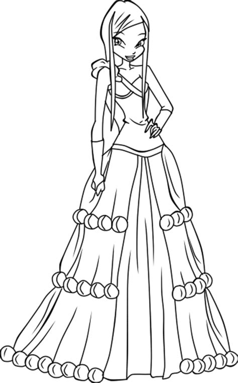 winx princess coloring pages winx princess coloring pages and print for free