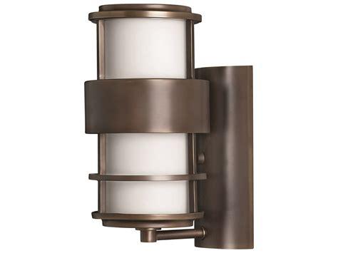 hinkley saturn outdoor wall light hinkley lighting saturn metro bronze led outdoor wall