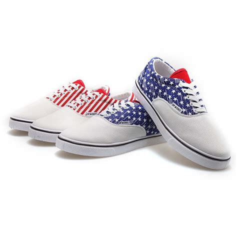 2015 the american flag painted canvas shoes graffiti shoes