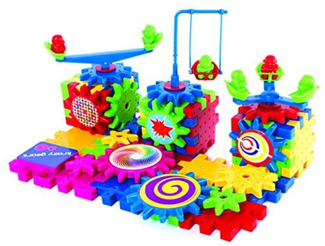 Mainan Edukasi Anak Thinking Block gear building set interlocking learning blocks