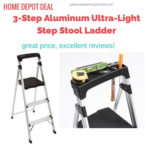 Lightweight 3 Step Stool by Gorilla Ladders 3 Step Aluminum Ultra Light Step Stool