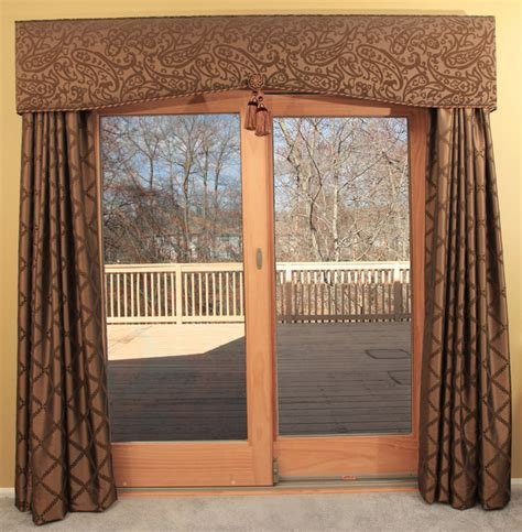 Sliding Glass Door Valance Curtains For Patio Doors Drapery Room Ideas