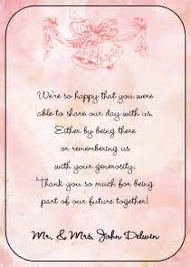wedding thank you card sayings wedding thank you quotes quotesgram