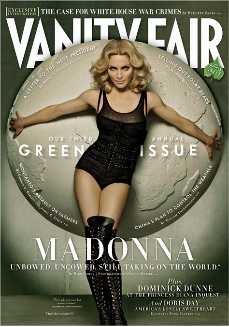 madonna poses for 10th vanity fair cover