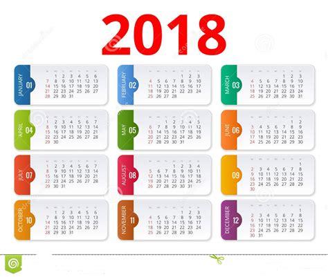 Calendario Word 2018 Plantilla Calendario 2018 Calendario 2018 Para Imprimir