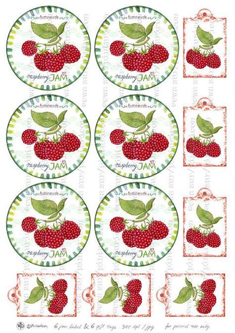printable labels for homemade jam circle jam label raspberry jam label printable mason jar