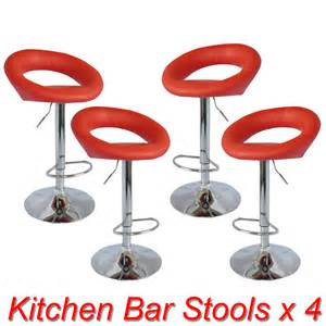 red kitchen bar stools 4x pu leather bar stool kitchen chair