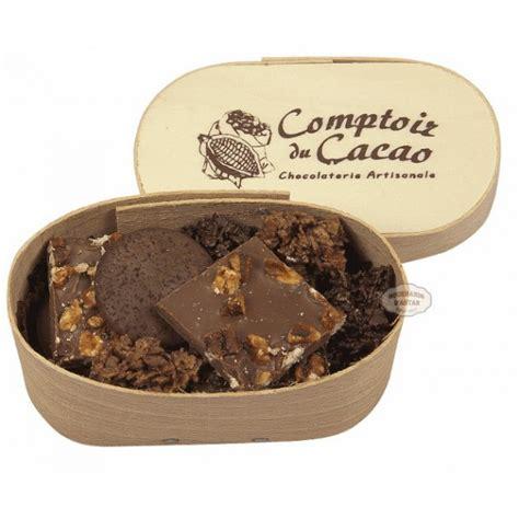 comptoir du cacao assortiment chocolats comptoir du cacao boite en bois