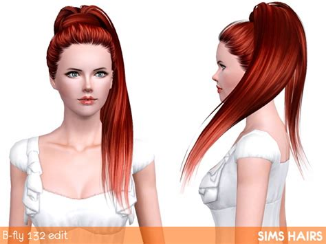 fly sims 121 af hairstyle retextured by sims hairs for sims 3 shiny retexture for b fly s af 132 hairstyle by sims hairs
