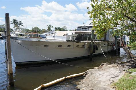 boat salvage yards fort lauderdale florida broward marine 63ft quot the contessa quot flushdeck motoryacht