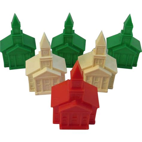 6 christmas church light bulb covers vintage plastic