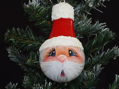 light bulbs santa handpainted tree santa light bulb ornament