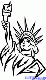 how to draw lady liberty step by step tribal art pop