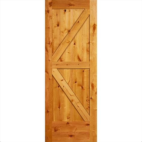 Sliding Barn Door Frame Steves Sons 30 In X 84 In Unfinished Knotty Alder K Frame Interior Barn Door With Black