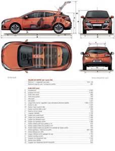 Renault Megane 3 Dimensions Renault Megane 3 Coup 233 Fiche Technique Dimensions