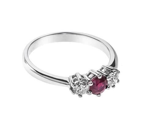 carat white gold ruby  diamond trilogy ring  sale