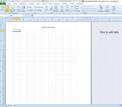 workbook layout how to switch to page layout view in excel 2010 solve