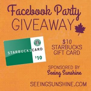 Starbucks Gift Card Giveaway - uncategorized archives seeing sunshine