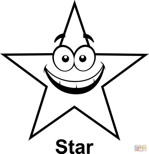 gold star coloring page star with cartoon face coloring page free printable