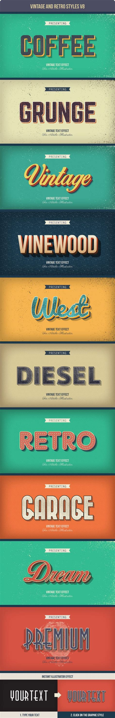 Wedding Font Adobe Illustrator by Typography Vintage And Retro Text Styles For Adobe