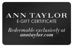 Can You Use Loft Gift Card At Ann Taylor - ann taylor gift cards e gift certificates