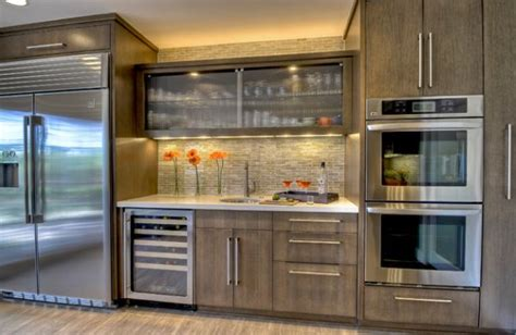 How To Refresh Kitchen Cabinets Kitchen Cabinet Glass Doors To Refresh The Interior Ideas 4 Homes