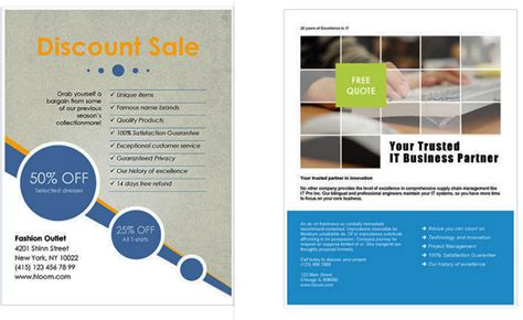 Presentation Handout Template Word Free Business Flyer Templates For Microsoft Word Design A