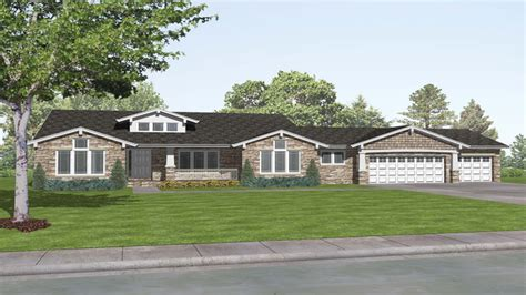 Ranch Style Homes Plans by Craftsman Style Ranch House Plans Rustic Craftsman Ranch