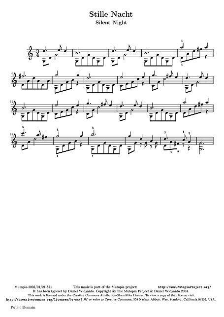 Noite Feliz (Stille Nacht, heilige Nacht) Easy Guitar