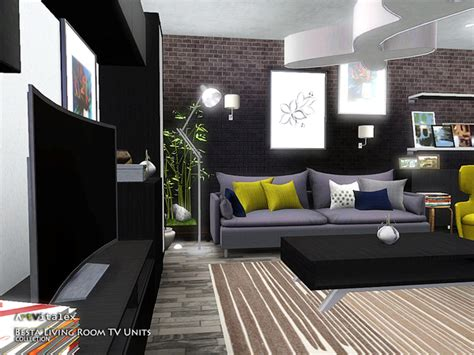 Sims 3 Living Room Sets Artvitalex S Besta Living Room Tv Units