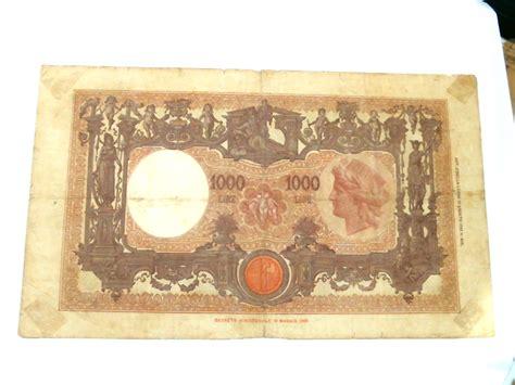 d italia lire mille regno d italia vittorio emanuele iii 1000 lire i 176 tipo 21