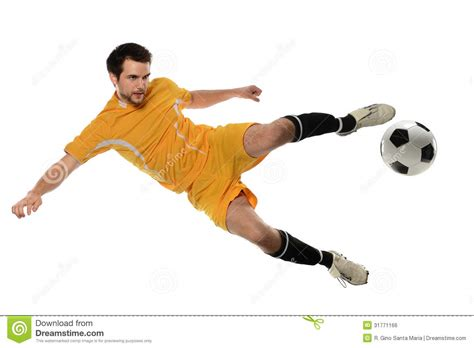 soccer play soccer player kicking stock photo image of sports