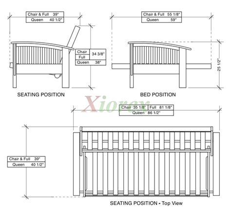 futon size measurements night and day winchester futon beds with steam bent arm