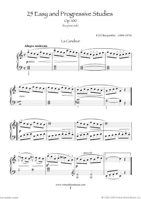 Buku Piano Burgmuller Op 100 acheter des partitions burgmuller free scores