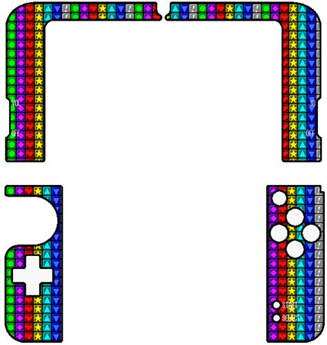 New 3ds Xl Puzzle League Skin Inside By Thewolfbunny 3ds Xl Skin Template