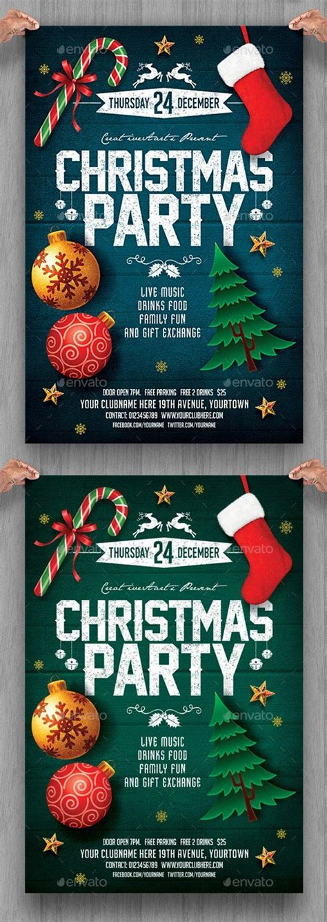 25 beautiful christmas flyer ideas on pinterest