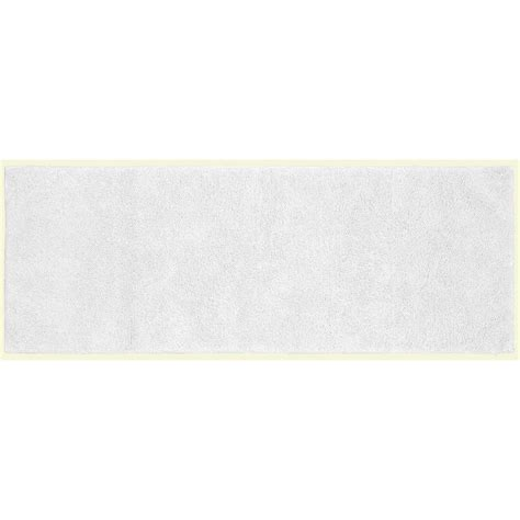 cotton accent rugs cotton white 22 in x 60 in washable bathroom accent ruggarland rug 203181483