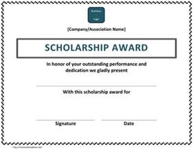 Certification Letter For Scholarship plus scholarship award certificate examples for word and pdf