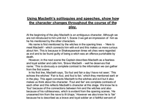 macbeth themes disorder macbeth fair is foul and foul is fair essay macbeth essay