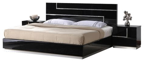 black lacquer bedroom set j m lucca black lacquer with cystal accents queen size
