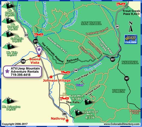 colorado jeep trail maps buena vista jeeping atv trails map colorado vacation