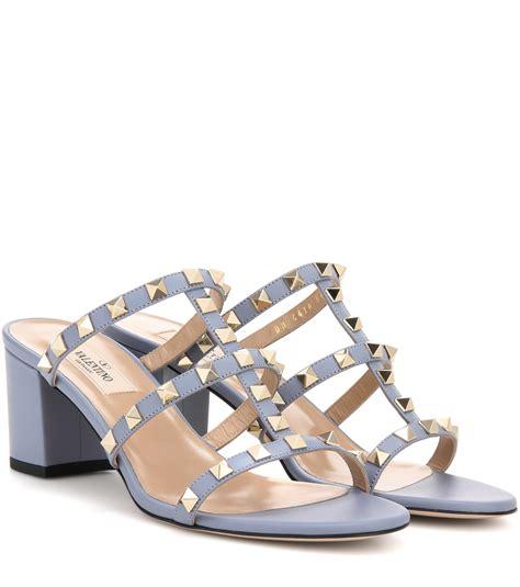 valentino garavani sandals valentino garavani rockstud leather sandals lyst