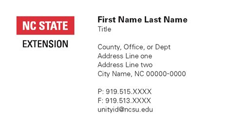 Ncsu Business Card Template by Marketing Downloads Nc State Extension