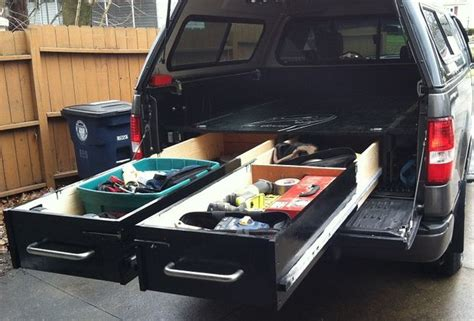 build your own truck bed slide out truck bed drawers