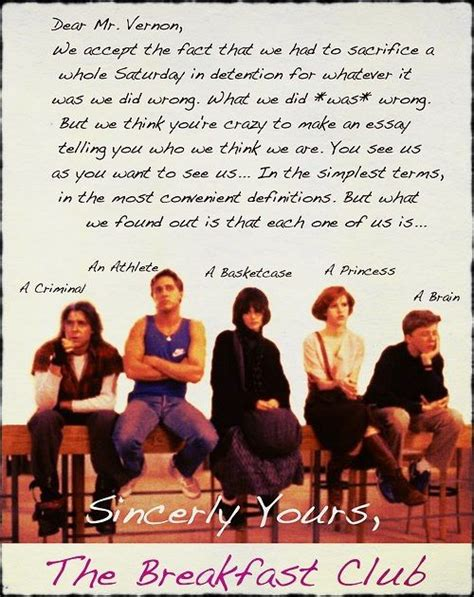 Closing Letter From The Breakfast Club Best Quote Letter Favorite Quotes And Sayings Pinte